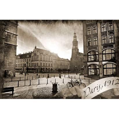 Фотообои Старое фото Парижа | арт.12370