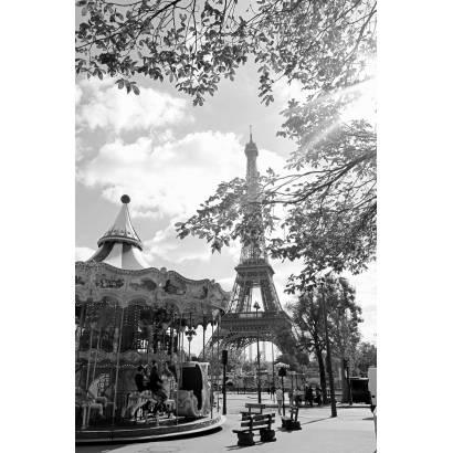 Фотообои Карусель у Эйфелевой башни | арт.12431