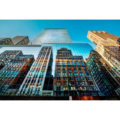 Фотообои Зеркальные небоскребы | арт.12434