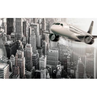 Фотообои Самолет над мегаполисом | арт.12435