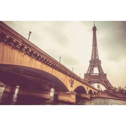 Фотообои Эйфелева башня и мост | арт.12439
