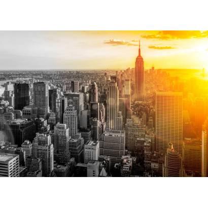 Фотообои Нью-Йорк чб гибрид | арт.12473