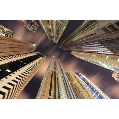 Фотообои Небоскребы Дубай, вид снизу | арт.12474