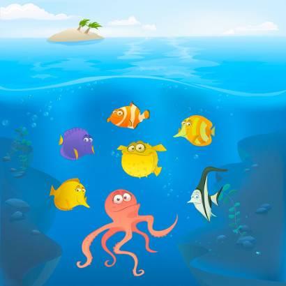 Фотообои Подводный мир | арт.14155