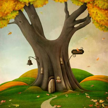 Фотообои Дерево дом | арт.14160
