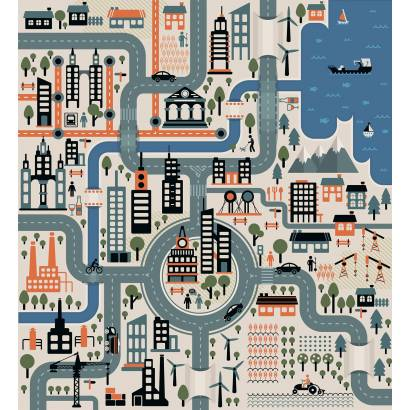 Фотообои План города | арт.14323