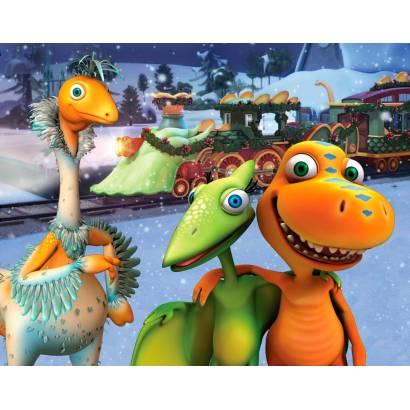 Фотообои Мультяшные динозаврики | арт.14341