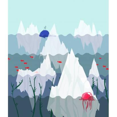 Фотообои Айсберги в волнах | арт.14357