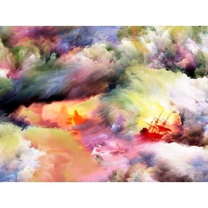 Фотообои Корабли в бушующем море | арт.14388