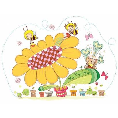Фотообои Пчелки на цветке | арт.14408