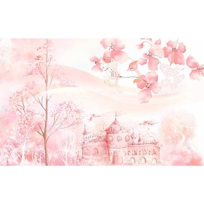 Фотообои Замок в цветущем лесу | арт.14418