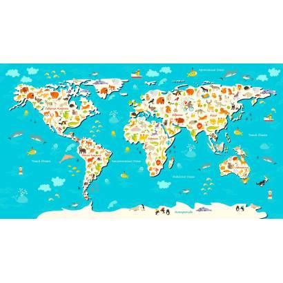 Фотообои Карта мира | арт.14449