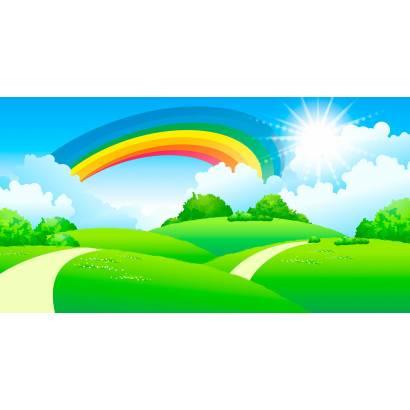 Фотообои Тропинка радуга | арт.14454