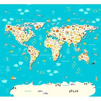 Фотообои Карта мира | арт.14455