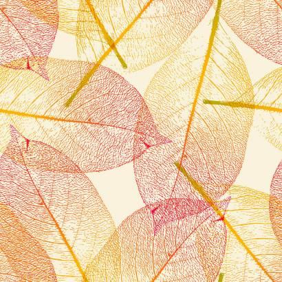 Фотообои Красно-желтые листья | арт.1717