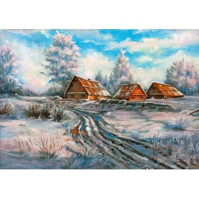 Фотообои Зима в деревне | арт.177