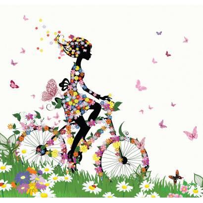 Фотообои На велосипеде | арт.1785