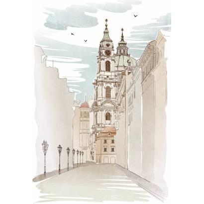 Фотообои Улица в Праге | арт.1795