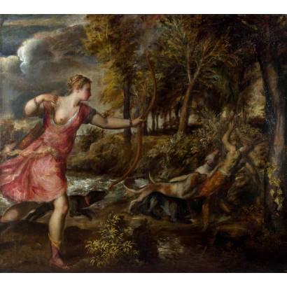 Фотообои Смерть Актеона | арт.18122