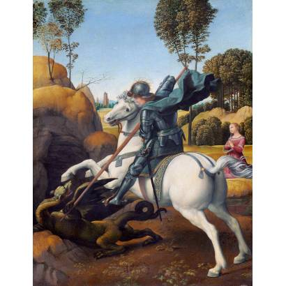 Фотообои Святой Георгий И Дракон | арт.18132
