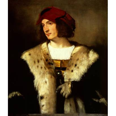 Фотообои Портрет Мужчины В Красном Головном Уборе | арт.18142