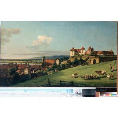 Фотообои Вид Пирны От Замка Зонненштайн | арт.18153