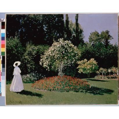 Фотообои Дама В Саду Сент-Адресс | арт.18238