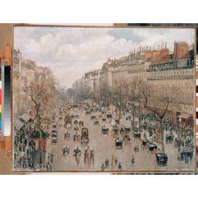 Фотообои Бульвар Монмартр В Париже | арт.18245