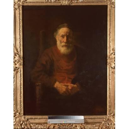 Фотообои Портрет Старика В Красном | арт.18251