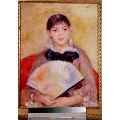 Фотообои Девушка С Веером | арт.18256
