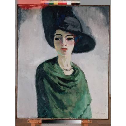 Фотообои Женщина В Черной Шляпе | арт.18281