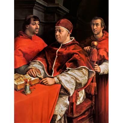 Фотообои Портрет Папы Льва X С Кардиналами Джулио Де Медичи И Луиджи Де Росси | арт.183