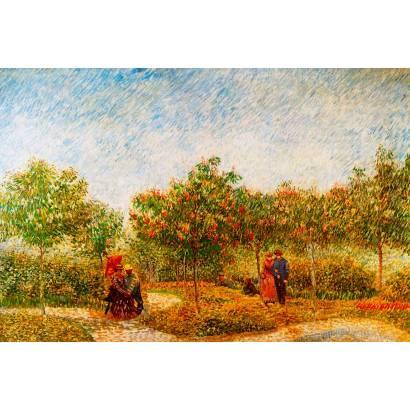 Фотообои Винсент Ван Гог - Сад с влюбленными парочками | арт.18312