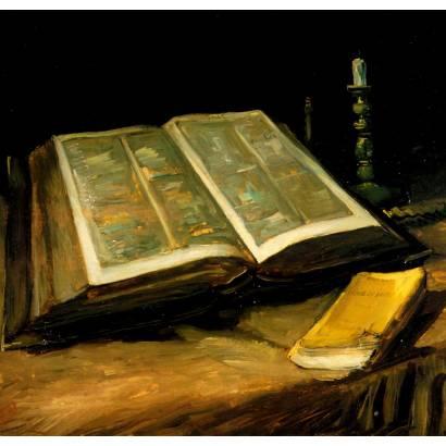 Фотообои Винсент Ван Гог - Натюрморт с книгой и библей | арт.18322