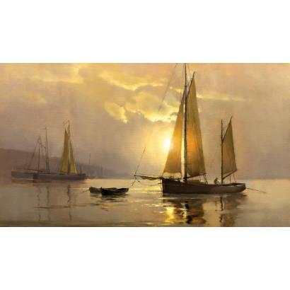 Фотообои Корабли на закате | арт.18336