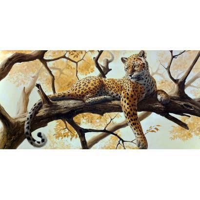 Фотообои Леопард на ветке | арт.18344