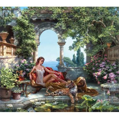 Фотообои Портрет с ягуаром. М Сатаров | арт.18347