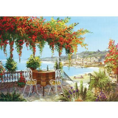 Фотообои Балкон, увитый цветами | арт.18350