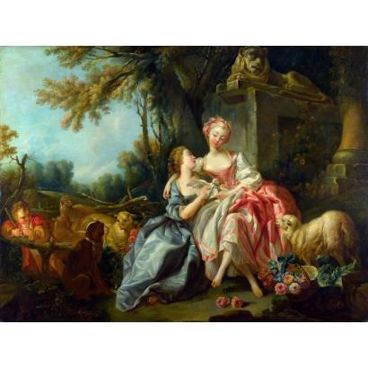 "Фотообои Франсуа Буше ""Любовная записка"" | арт.18366"