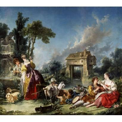 "Фотообои Франсуа Буше ""Фонтан любви"" | арт.18367"