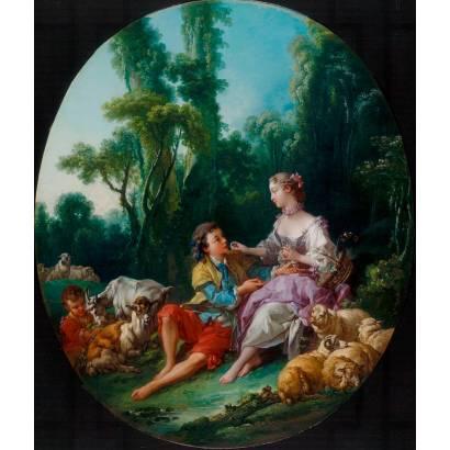 "Фотообои Франсуа Буше ""Они думают о винограде"" | арт.18368"
