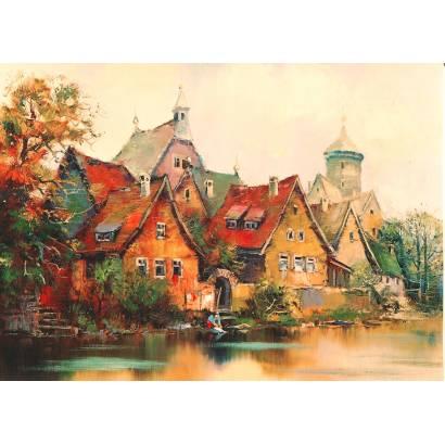 Фотообои Дома на берегу реки | арт.18381