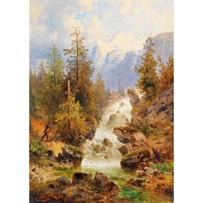 Фотообои Водопад в горах | арт.18416