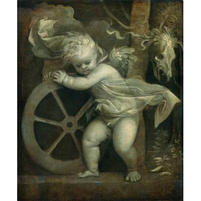 Фотообои Купидон С Колесом Фортуны | арт.1867