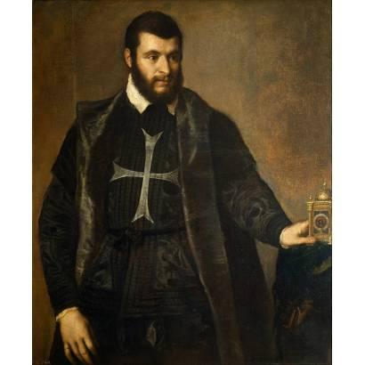 Фотообои Портрет Рыцаря Мальтийского Ордена С Часами | арт.1886