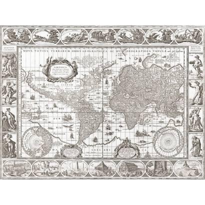 Фотообои Карта 1606г. | арт.192