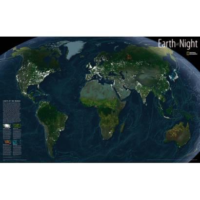Фотообои Карта мира ночью | арт.1922