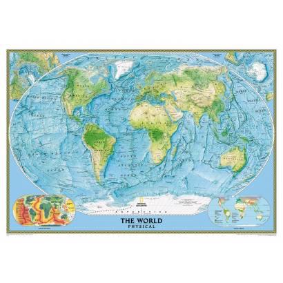 Фотообои физическая карта мира | арт.1923