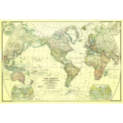 Фотообои Карта мира 1922г | арт.1926