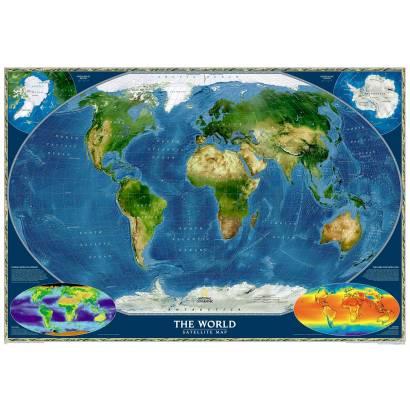 Фотообои Спутниковая карта мира | арт.1927